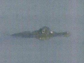 調整池で目撃されたワニとみられる生き物(長崎県提供)