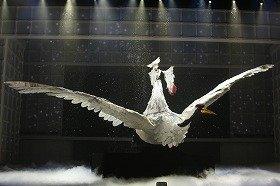 幅13メートル、高さ8メートルの巨大衣装がステージ上を舞った