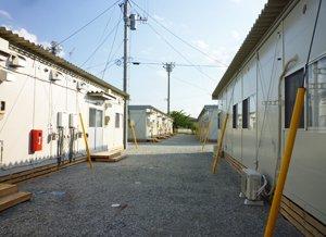 鏡石町に設置された仮設住居