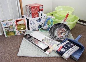 相馬郡新地町に配付した支援物資