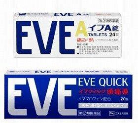 解熱鎮痛剤市場で発売26年目、初の首位(写真は、「イブA錠」と「イブクイック頭痛薬」)
