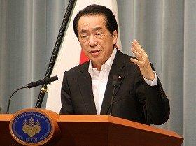 「脱原発」を表明する菅直人首相