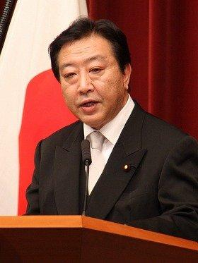 官邸での初会見に臨む野田佳彦首相