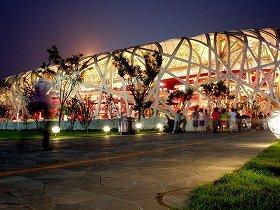 艾氏がデザインに加わった北京国家体育場(通称「鳥の巣」)