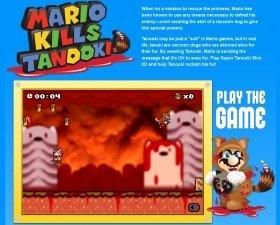 PETAのページ。オリジナルゲームまで用意されている。