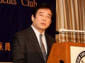 日本外国特派員協会で会見に臨む清武英利氏