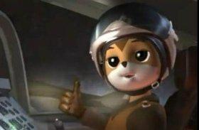 「リスとハリネズミ」では、CGでリスのパイロットが描かれている
