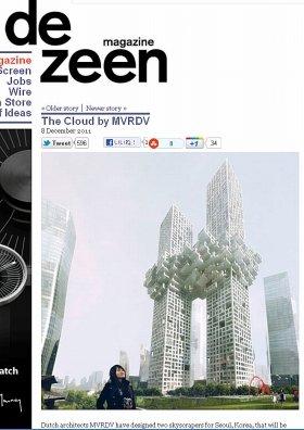英デザイン誌「dezeen」電子版で紹介された「ザ・クラウド」の完成予想図