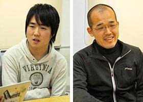 アプリ開発者の20Yさん(左)と渋谷正徳さん