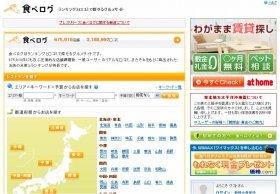 「ステマ疑惑」でネット株急落!?(写真は、「食べログ」のホームページ)