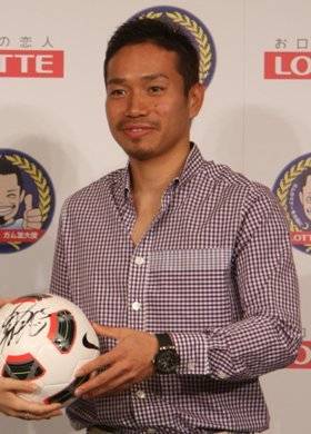 長友選手(2010年7月撮影)