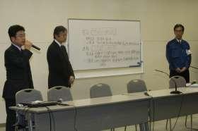 計画停電の結果を発表する東京電力幹部