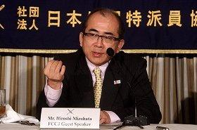 「訪日外国人数回復に努力したい」と語る溝畑宏・観光庁長官