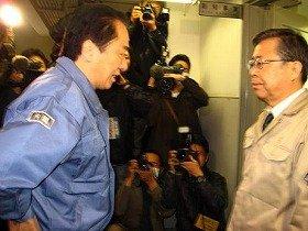 佐藤福島県知事と面会した菅首相