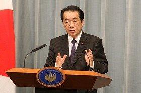 首相としての歳費返上を表明した菅直人首相
