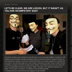 ハッカー集団「アノニマス」は関与を否定