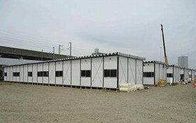 被災地では仮設住宅の建設が進んでいる(写真は、宮城県)