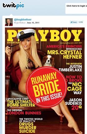 セクシー衣装の写真には「逃げた花嫁」のラベル