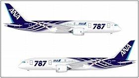 ANAが発表したボーイング787号機の特別塗装