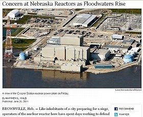 NYタイムズも洪水に見舞われたクーパー原発の現状を報じた