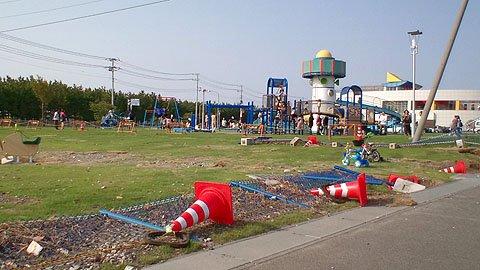 震災に負けず、元気に遊ぶ子どもたち