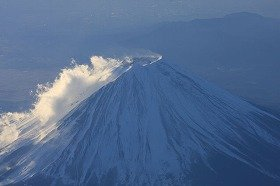 富士山3合目に湯気が立った!?(写真と本文は関係ありません)