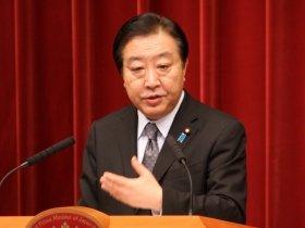 内閣改造を明らかにした野田首相