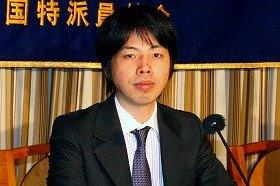 ミクシィの笠原健治社長(07年2月撮影)。筆頭株主でもある