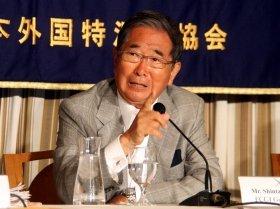日本外国特派員協会で講演した東京都の石原慎太郎知事