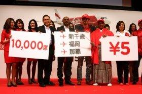 エアアジア・ジャパンは「片道5円」席を1万席売り出す