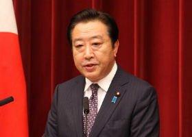消費増税法案衆院通過後に会見する野田佳彦首相。マイクの音が割れ気味になる場面も何回かあった