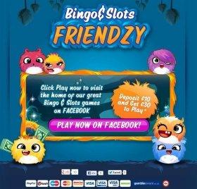 フェイスブックでスタートした「ビンゴ&スロッツ フレンジー」(Bingo & Slots Friendzy)。今は英国でしかプレイできない