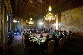 国際司法裁判所での審理の様子(Copyright: UN Photo/ICJ-CIJ/ANP-in-Opdracht/ Frank van Beek. Courtesy of the ICJ)