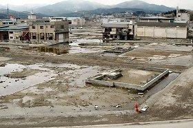 東日本大震災で大きな被害が出た宮城県気仙沼市(2012年3月撮影)