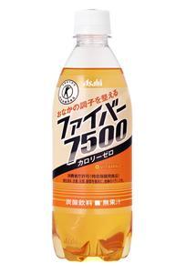 アサヒ飲料の「ファイバー7500」。「トクホ」マークが目印!