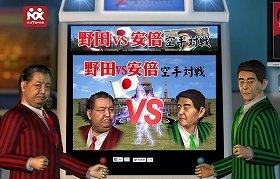 野田vs安倍 空手対戦(写真は、ホームページ)