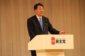 民主党の新代表に選出された海江田氏