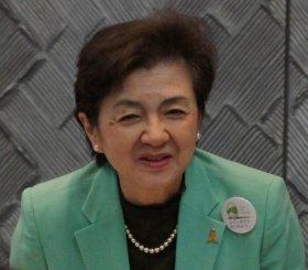 「未来」代表辞任を表明した嘉田知事(2012年12月24日撮影)