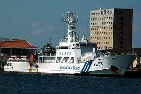 石垣港に停泊していた海保の巡視船