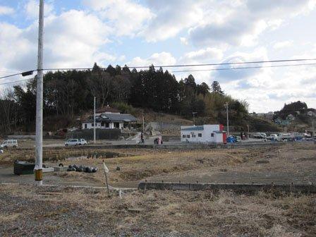 現在の西舘地区(右側が海)