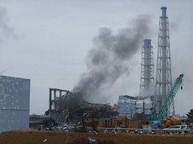 水素爆発を起こした東京電力福島第1原発3号機 (c)東京電力