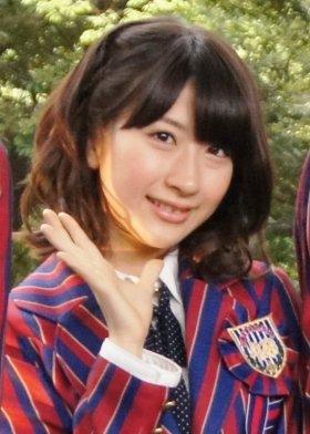 顔を蹴られてしまった石田晴香さん(12年4月撮影)