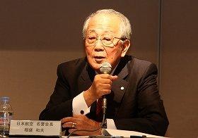 稲盛氏は12年8月の会見で批判に反論している