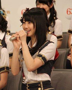 SKE48の松井玲奈さん(2012年11月26日撮影)