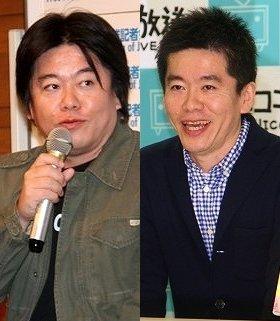 体型は間違いなく変わった堀江貴文さん。左は11年4月26日、右は13年3月27日にそれぞれ撮影