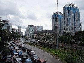 インドネシアからの観光客が増えている(写真はジャカルタ市内)