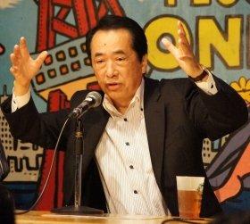 菅直人元首相(12年11月撮影)。若者の心をガシッとつかむことができるか