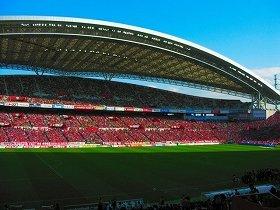 浦和-鹿島の試合が行われた埼玉スタジアム