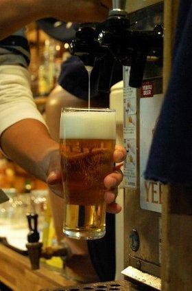 ビールの出荷量が増えてきた!