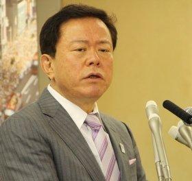 猪瀬知事は「東京標準時間」で金融市場を活性化しよう、と提案した。(2013年5月2日撮影)